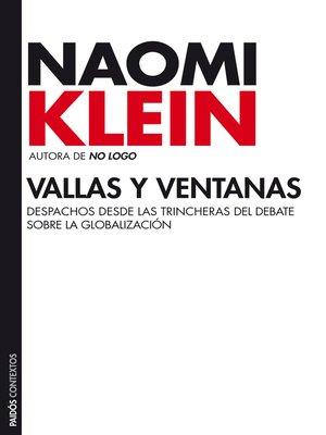 cover image of Vallas y ventanas