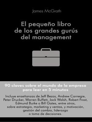 cover image of El pequeño libro de los grandes gurús del management