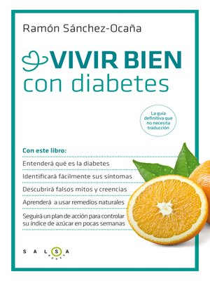 cover image of Vivir bien con diabetes