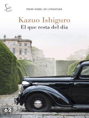 cover image of El que resta del dia