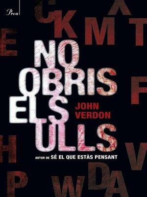 cover image of No obris els ulls