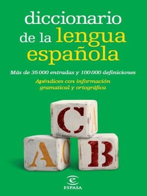 cover image of Diccionario de la lengua española Bolsillo