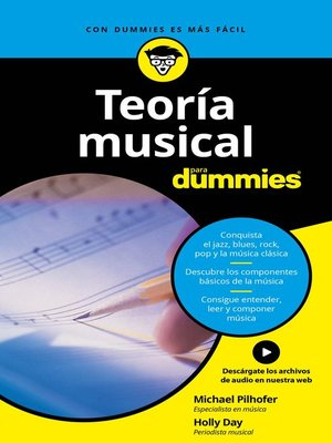 cover image of Teoría musical para Dummies