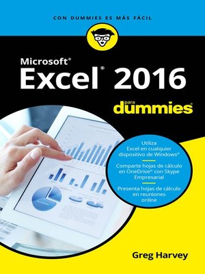 cover image of Excel 2016 para Dummies