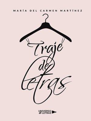 cover image of Traje de letras