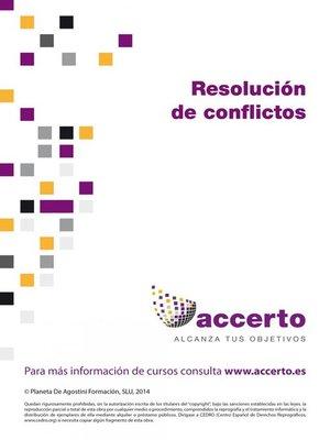 cover image of Resolución de conflictos