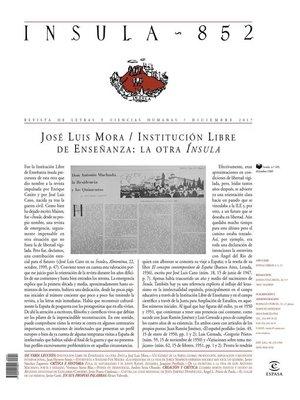 cover image of Misceláneo  (Ínsula n° 852, diciembre de 2017)
