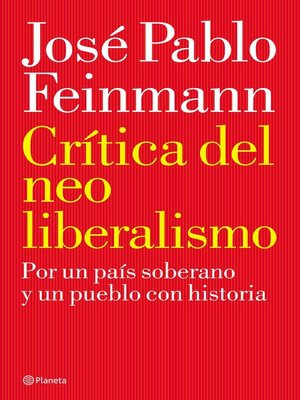 cover image of Crítica del neoliberalismo