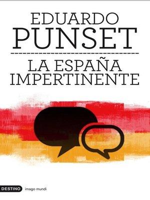 cover image of La España impertinente
