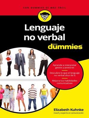 cover image of Lenguaje no verbal para Dummies