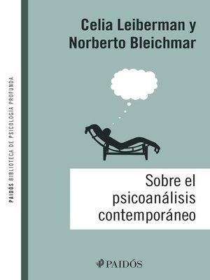 cover image of Sobre el psicoanálisis contemporáneo