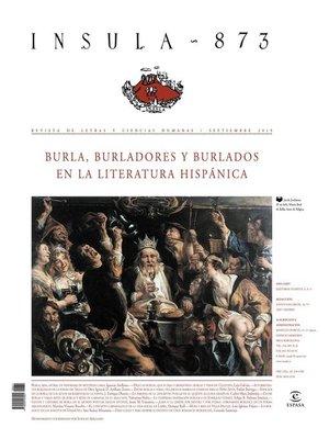 cover image of Burla, burladores y burlados en la literatura hispánica (Ínsula n° 873)