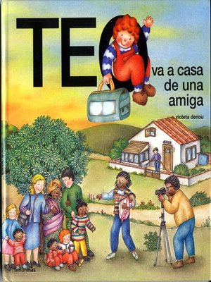 cover image of Teo va a casa de una amiga