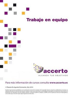 cover image of Trabajo en equipo