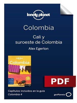 cover image of Colombia 4_7. Cali y suroeste de Colombia