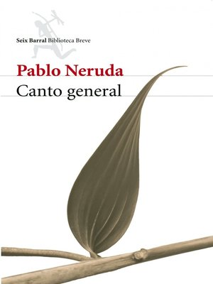 cover image of Canto general