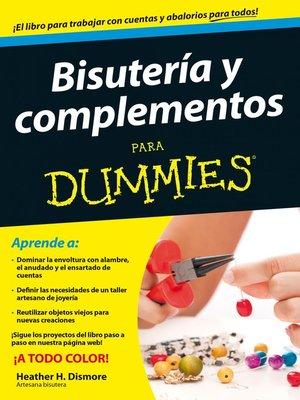 cover image of Bisutería y complementos para Dummies
