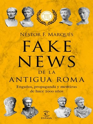 cover image of Fake news de la antigua Roma