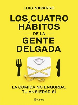 cover image of Los 4 hábitos de la gente delgada