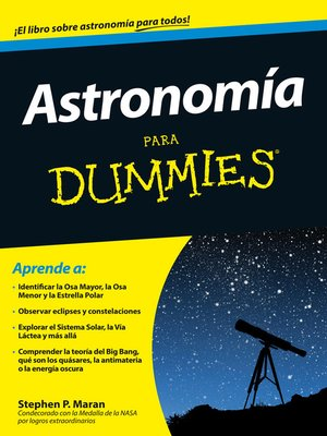 cover image of Astronomía para Dummies