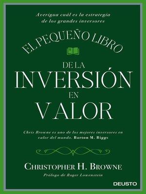 cover image of El pequeño libro de la inversión en valor