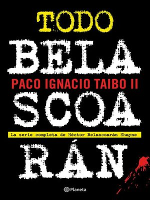 cover image of Todo Belascoarán