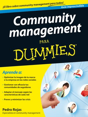 cover image of Community management Para Dummies