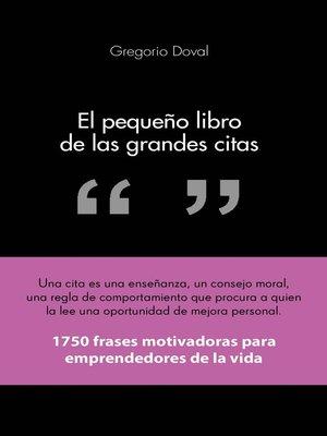 cover image of El pequeño libro de las grandes citas