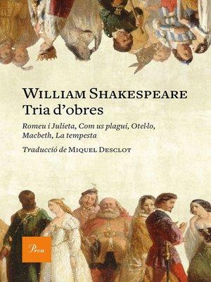 cover image of Tria d'obres