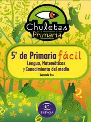 cover image of 5º de Primaria fácil. Libro de Contenidos