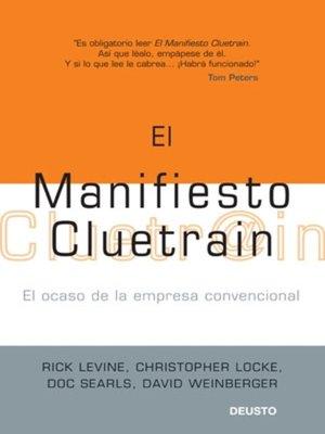 cover image of El manifiesto Cluetrain