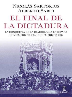 cover image of El final de la dictadura