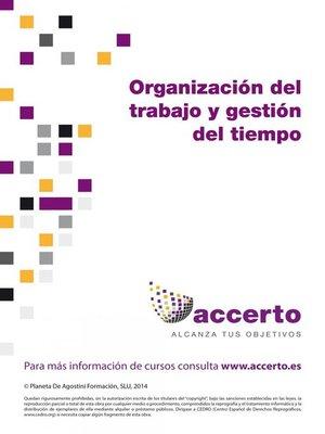 cover image of Organización del trabajo y gestión del tiempo