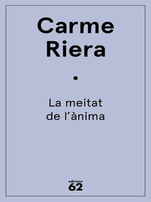 cover image of La meitat de l'ànima