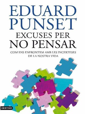 cover image of Excuses per no pensar