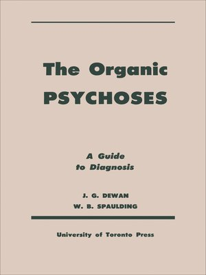 cover image of The Organic Psychoses