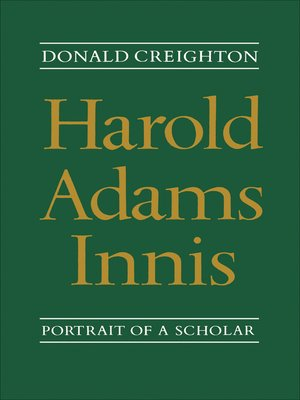 cover image of Harold Adams Innis