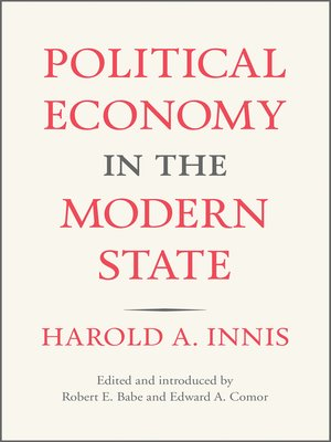 cover image of Political Economy in the Modern State