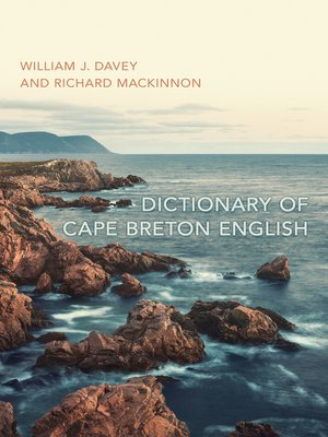 cover image of Dictionary of Cape Breton English