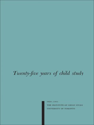 cover image of Twenty-five Years of Child Study