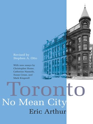 cover image of Toronto, No Mean City