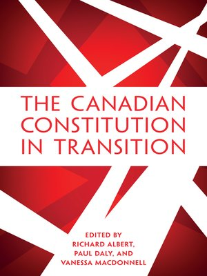 cover image of The Canadian Constitution in Transition