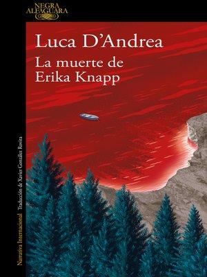 cover image of La muerte de Erika Knapp