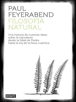cover image of Filosofía natural
