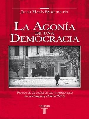 cover image of La agonía de una democracia