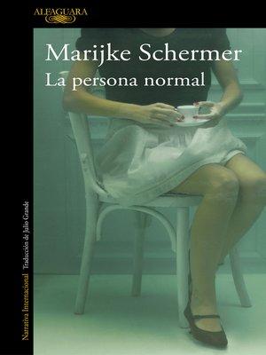 cover image of La persona normal
