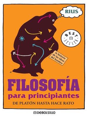 cover image of Filosofía para principiantes