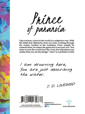 cover image of Prince of paranoia
