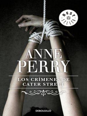 cover image of Los crímenes de Cater Street