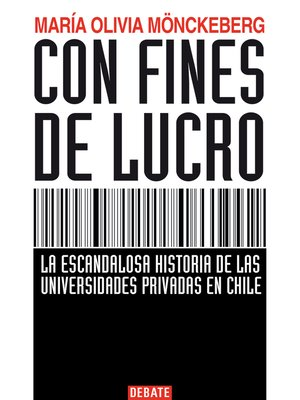 cover image of Con fines de lucro